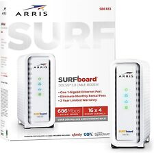 Arris Surfboard Sb6183 Docsis 3.0 Cable Modem, Approved for Cox, Spectrum, Xfini