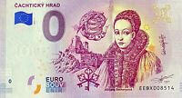 BILLET 0 EURO CACHTICKY HRAD SLOVAQUIE   2019  NUMERO DIVERS