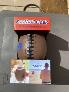 True Fabrication Football Flask Portable Holds 10 Ounces New!