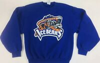 Knoxville Ice Bears Sweatshirt Minor League Hockey Sweatshirt Purple Shirt XL