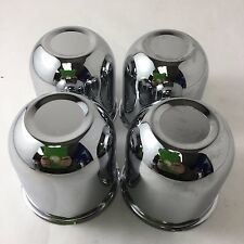 "Set of 4 Chrome 3.25"" Push Through Center Caps Fit 5x4.5"" 5x4.75 5x5"" Wheels C97"
