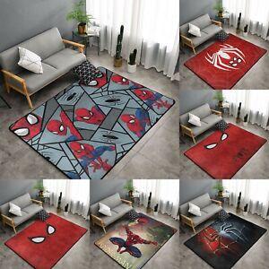 Marvel Spider-Man Area Rug Non-Slip Floor Mat Carpet Rug for Bedroom Living Room