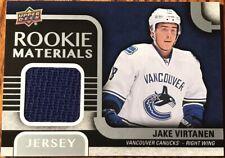 2015-16 Upper Deck Rookie Materials Jake Virtanen RM-JV Vancouver Canucks