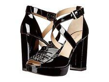 Michael Kors Womens Lindy Platform Peep Toe Cross Straps Fashion Heels Shoes