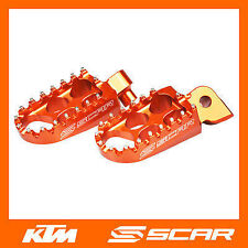 FOOTPEGS STD KTM 50 65 125 150 250 450 SX SXF SX-F EXC EXC-F ORANGE SCAR