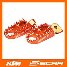 FOOTPEGS STD KTM 50 65 125 150 250 450 SX SXF SX-F EXC EXC-F ORANGE SCAR
