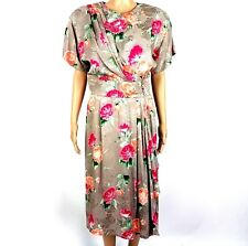 Maggy London By Jeannene Booher Womens Floral Silk Dress Size 12
