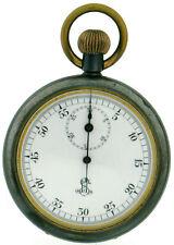 Herren Militär Taschenuhr Chronograph Taschenuhr Stopwatch in brüniertem Eisen