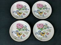 SET OF 4 Crown Staffordshire CHELSEA MANOR Butter Pats ~ Fine Bone China England