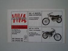 advertising Pubblicità 1972 MOTO MONTESA 250 KING SCORPION/247 COTA
