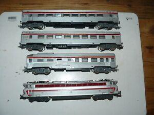 train électrique SNCF HO JOUEF locomotive CC 40101 + rame TEE PBA