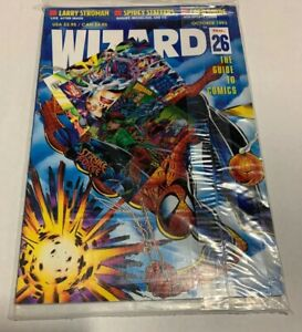 Wizard Comic Magazine #26 October 1993 New in Sealed Bag w/ Trading Cards Free S
