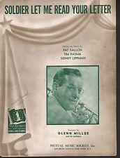 Soldier Let Me Read Your Letter 1942 Glenn Miller Sheet Music
