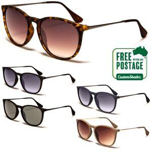 Round Sunglasses Womens / Mens- Retro / Vintage Frame- Gradient Lens, Metal Arms