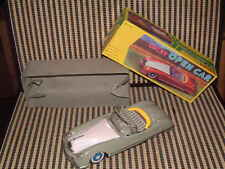 "VINTAGE NOS, TIN, FRICTION ""LUCKY OPEN CAR"" W/OPENING HOOD, SPINNING FAN & BOX!"