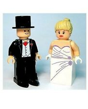 Custom Minifigures Bride & Groom Ideal Wedding Gift - Printed on LEGO Parts