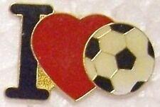 Hat Lapel Pin sports I Love Soccer NEW