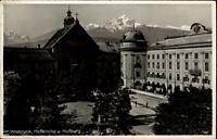 Innsbruck Tirol AK 1939 gelaufen Hofkirche und Hofburg Berge im Hintergrund