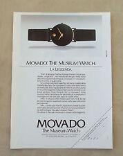 F085 - Advertising Pubblicità - 1992 - MOVADO , THE MUSEUM WATCH