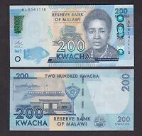 p60c UNC 1.1.2016 Malawi 200 Kwacha