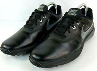 Nike Mens Golf Shoe Lunar Command Golf Size 9.5  Black Silver 704427-001