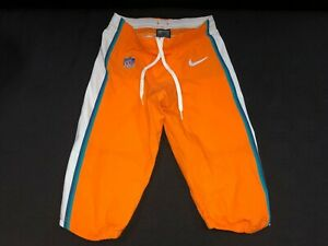 MIAMI DOLPHINS TEAM ISSUED/GAME USED ORANGE COLOR RUSH NIKE PANTS ALL SIZES RARE