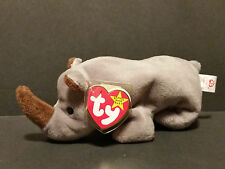 1996 TY Beanie Babies Spike the Rhino PVC Pellets W/Tags