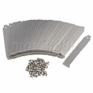 50 PCS Stainless Steel PCI Computer Case Slot Covers for Desktop