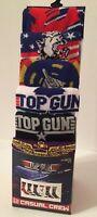 "MENS ""TOP GUN MOVIE"" 6 PAIR CASUAL CREW SOCKS Fits Shoe Size 8-12 New"