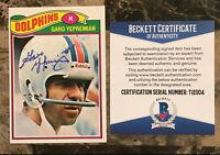 Garo Yepremian (d.2015) Signed 1977 Topps #255 Miami Dolphins AUTO Beckett