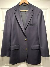 Southwick For Mobley And Sons 3/2 Roll Navy Blazer 44 Long/Tall
