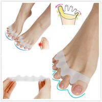 2Pc Soft Gel Separator Silicone Hammer Toe Corrector Foot Straightener Spreader