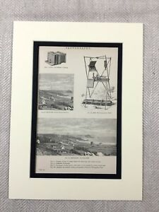 1880 Antique Print Victorian Camera Early Photography Device 19th Century