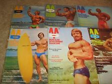 Lot Of 6 Muscular Development Bodybuilding Magazines/1975 COMPLETE YEAR