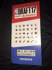 2017 NBA Draft Program Lonzo Ball Markelle Fultz Jayson Tatum Josh Jackson BBB