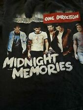 Vtg One direction Midnight Memories Black T-shirt Unisex All Size Reprint M1184