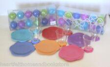 Girl's Flower PLASTIC Party Birthday Set w/ Plastic Ball String Lights 14 pc lot