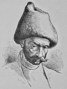 Russia The Kalmyks A MONGOL TARTAR Original Victorian Print by Figuier c1893