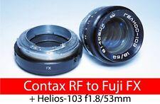 Contax RF KIEV RF to Fuji FX adapter with focusing part + Helios-103 f1.8/53mm