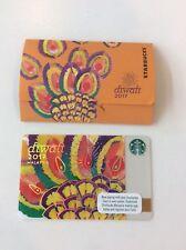Starbucks Malaysia Card DIWALI 2017 PIN INTACT RARE Deepavali festival of lights