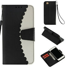 Matte Slim Flip ID Wallet Leather Case Cover Magntic For iPhone 5S 6S 7 8 Plus X