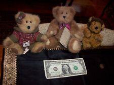 Bear Lot 3 Boyds Bears Fawn Woodsbeary Gorgeous Teddy and Angel Lion Adorable