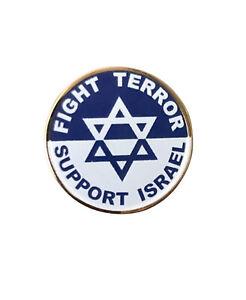 Support Israel Fight Terror Metal Enamel Pin Badge 20mm Diameter