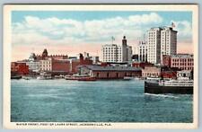 1911 JACKSONVILLE FLORIDA*WATER FRONT*FOOT OF LAURA STREET*FL ARTISTIC SERIES