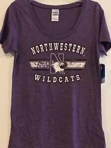 NWU North Western University Wildcats TEE  Shirt ladies