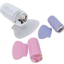 Stampino timbro trasparente+raschietto decorazione decori unghie unghia nail art