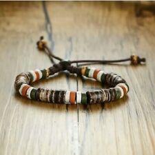 Natural Stone Beaded Bracelet for Men Women Adjustable Length
