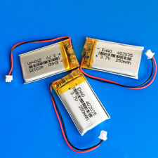 3 pcs 3.7V 250mAh 402035 Li Polymer Battery for MP3 GPS PSP Bluetooth JST 1.25mm