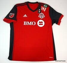 New Adidas MLS Toronto Canada FC Soccer Jersey Red & Black Size XL $85 MSRP NWT