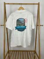 VTG 90s Le Bleu Drinking Water Purity Nature Intended Single Stitch T-Shirt XL